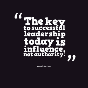 The key to successful leadership today is influence, not authority. - Community Vision